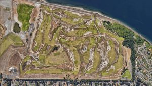 a) CRYSTAL DOWNS b) CHAMBERS BAY c) THE LINKS AT SPANISH BAY